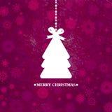 Verfraaide blauwe Kerstboom. EPS 8 Stock Afbeelding