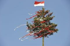 Verfraaide Boom bij een Beierse Markt van het Land Stock Afbeelding