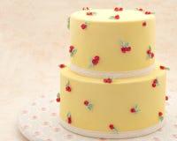 Verfraaide cake Royalty-vrije Stock Afbeelding