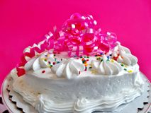 Verfraaide cake Stock Foto