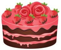 Verfraaide chocoladecake Stock Foto's