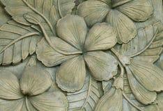 Verfraaide de gravure van de bloem Royalty-vrije Stock Afbeelding