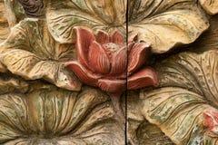 Verfraaide de gravure van de bloem Stock Afbeeldingen