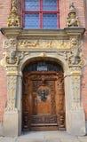 Verfraaide deur Stock Foto