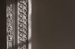 Verfraaide deurpost royalty-vrije stock afbeeldingen