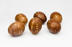 Verfraaide eieren Stock Fotografie