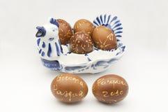 Verfraaide eieren Stock Foto's
