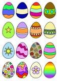 Verfraaide Eieren Stock Foto