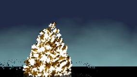 Verfraaide en kleurrijke Kerstboom royalty-vrije illustratie