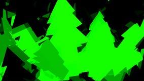 Verfraaide en kleurrijke Kerstboom stock illustratie