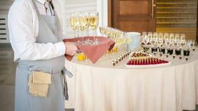 Verfraaide feestelijke huwelijkszaal Royalty-vrije Stock Fotografie