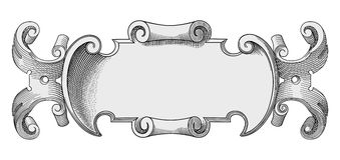 Verfraaide frame vector stock illustratie