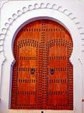 Verfraaide houten deur Royalty-vrije Stock Foto's