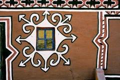 Verfraaide hut Basuthu royalty-vrije stock foto's