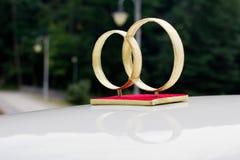 Verfraaide huwelijksauto Stock Afbeelding
