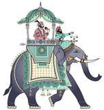 Verfraaide Indische olifant Stock Afbeeldingen
