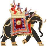 Verfraaide Indische olifant Stock Foto's