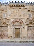 Verfraaide ingang aan Mezquita, Cordoba, Spanje stock foto
