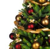 Verfraaide Kerstboom royalty-vrije stock foto