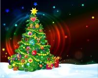 Verfraaide Kerstboom vector illustratie