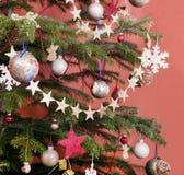 Verfraaide Kerstboom Royalty-vrije Stock Afbeeldingen