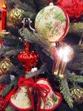 Verfraaide Kerstboom Stock Foto's