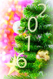Verfraaide Kerstboom Stock Fotografie