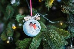 Verfraaide Kerstboomclose-up Royalty-vrije Stock Foto