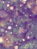 Verfraaide kerstboommuur De spar van de vakantiepijnboom vertakt zich achtergrond Eps 10 royalty-vrije illustratie