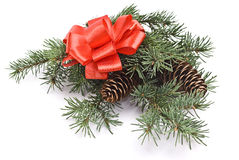 Verfraaide Kerstmis Stock Foto