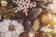 Verfraaide Kerstmis Stock Foto's