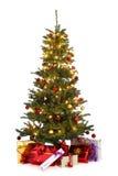 Verfraaide Kerstmisboom Royalty-vrije Stock Afbeeldingen