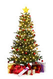 Verfraaide Kerstmisboom Stock Foto's