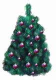 Verfraaide Kerstmisboom Stock Foto
