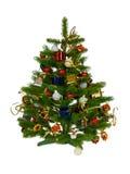 Verfraaide Kerstmisboom royalty-vrije stock foto's
