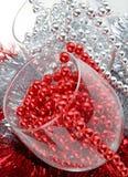 Verfraaide Kerstmisglazen Stock Afbeeldingen
