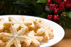 Verfraaide Kerstmiskoekjes van de stervorm royalty-vrije stock afbeeldingen