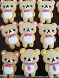 Verfraaide koekjes, teddybeervorm Royalty-vrije Stock Afbeeldingen