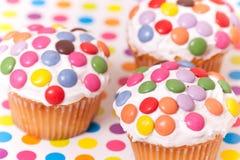Verfraaide kopcakes Stock Foto's