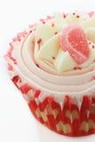 Verfraaide kopcakes op wit Royalty-vrije Stock Foto