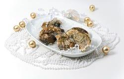 Verfraaide oesters Stock Fotografie