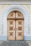 Verfraaide oude deur royalty-vrije stock foto