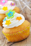 Verfraaide Pasen cupcakes Royalty-vrije Stock Foto