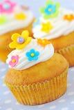 Verfraaide Pasen cupcakes Stock Fotografie