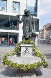Verfraaide Pasen-fontein in de stad wà ¼ rzburg royalty-vrije stock afbeeldingen
