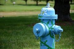Verfraaide sparhydrant stock foto's