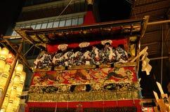 Verfraaide vlotter van Gion-festival, Kyoto Japan in Juli Royalty-vrije Stock Foto