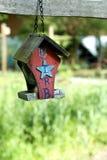 Verfraaide vogel het nestelen doos Stock Afbeelding