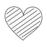 Verfraait de Romaanse hartstocht van de hartliefde strepen vector illustratie