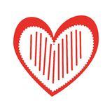 Verfraait de Romaanse hartstocht van de hartliefde strepen royalty-vrije illustratie